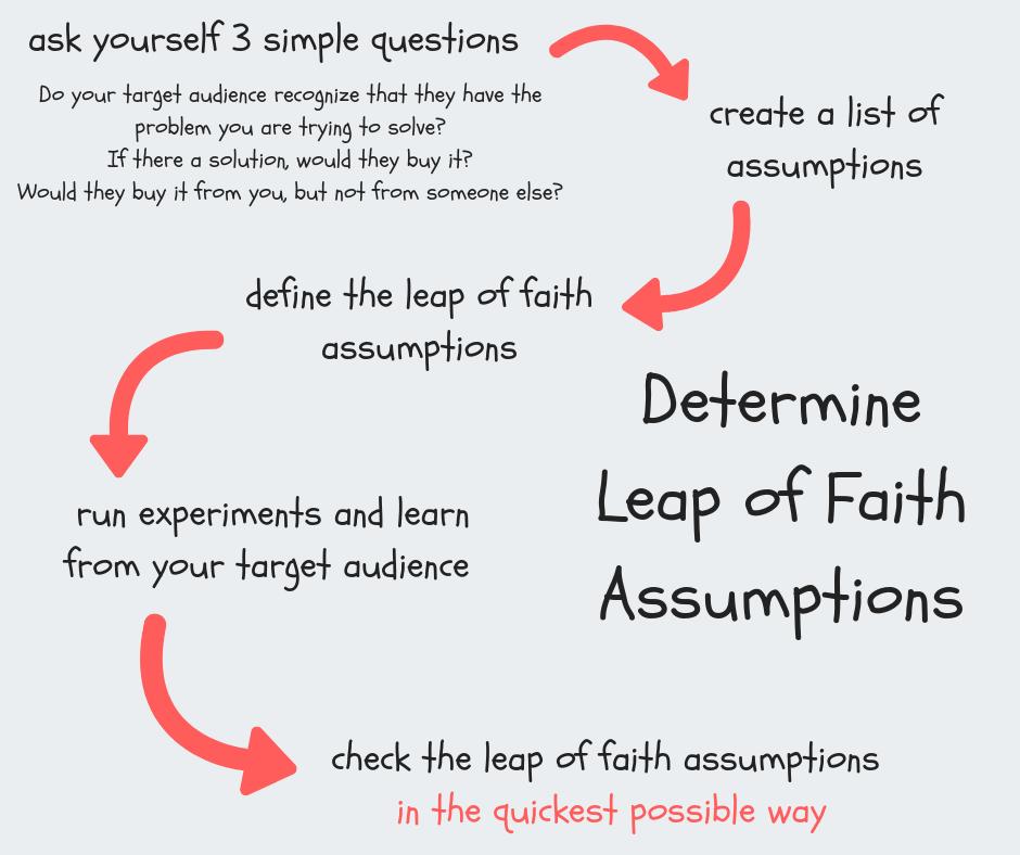 determine leap of faith assumptions