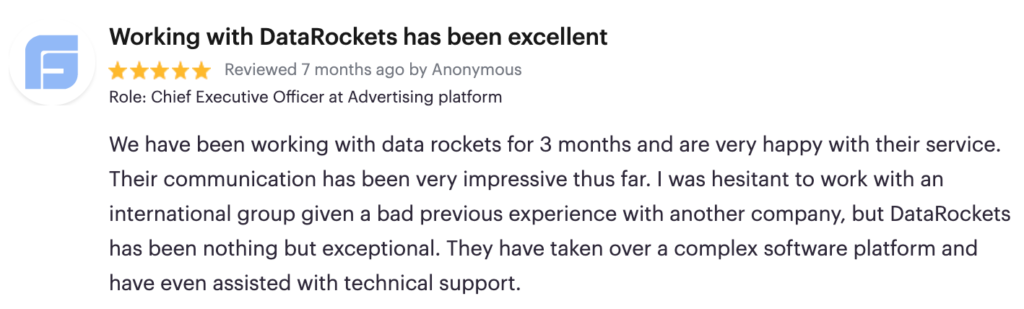 Review by CEO of the Advertising platform