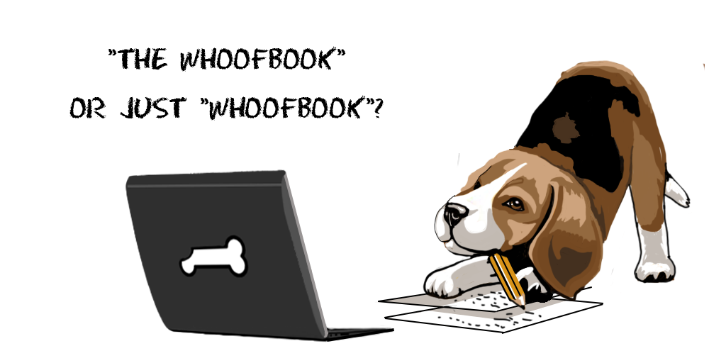 "Experimental Plan Definition - ""The WhoofBook"" or just ""WhoofBook""?"